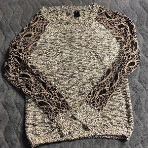 Woman's lace dress sweater.